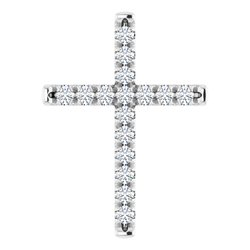 French-Set Cross Necklace or Pendant