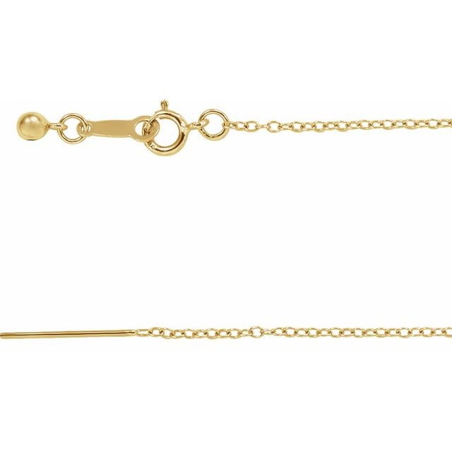 14K Yellow Gold Filled 1.1 mm Adjustable Threader Cable 16-22
