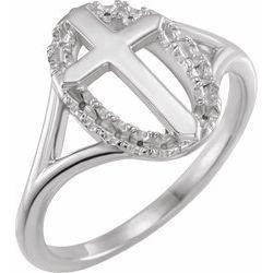 Halo-Style Cross Ring