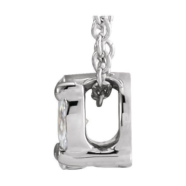 14K White 1/6 CTW Diamond Cluster 16-18