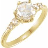 Rose-Cut Engagement Ring or Band