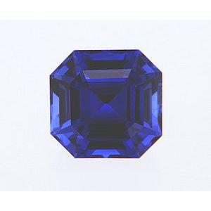 Sapphire Asscher 0.96 carat Blue Photo