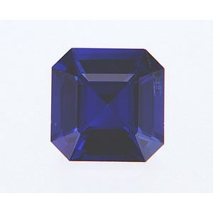 Sapphire Asscher 0.83 carat Blue Photo