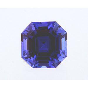 Sapphire Asscher 0.93 carat Blue Photo