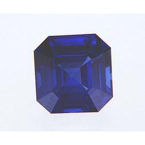 Sapphire Asscher 1.50 carat Blue Photo