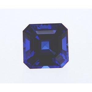 Sapphire Asscher 1.10 carat Blue Photo