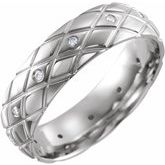 Diamond Cut Pattern Band