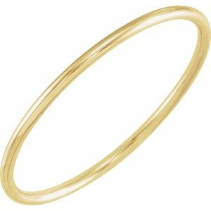 14K Yellow Stackable Ring Size 8