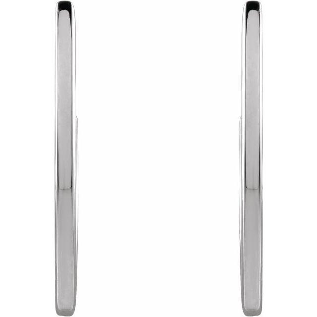 Sterling Silver 20 mm Geometric Hoop Earrings