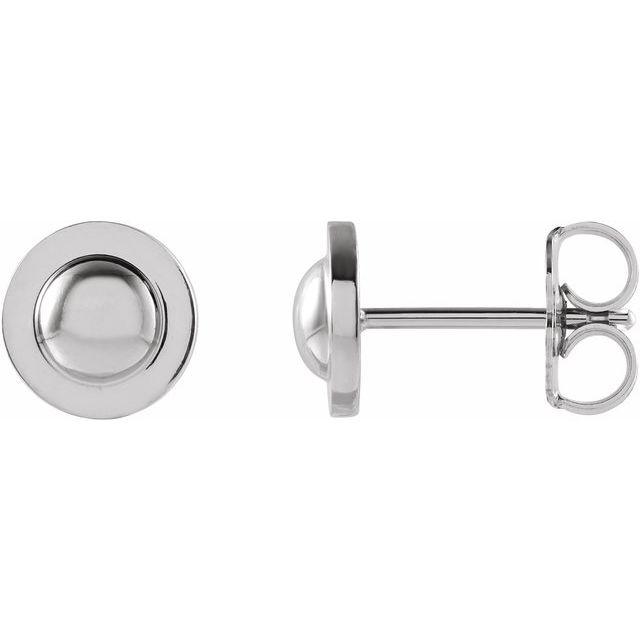 Pair Domed Earrings