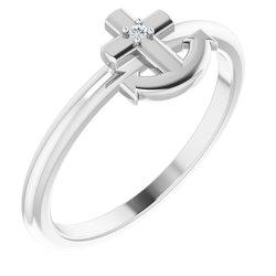 Cross Anchor Ring