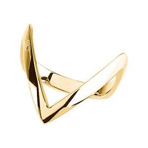 "Sterling Silver ""V"" Ring"