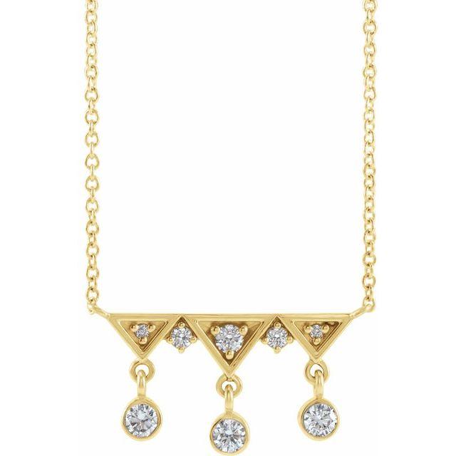 14K Yellow 1/5 CTW Diamond Fringe Bar 18