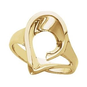 14K Yellow Freeform Remount Ring