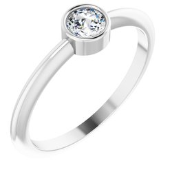 Stackable Rosecut Solitaire Ring