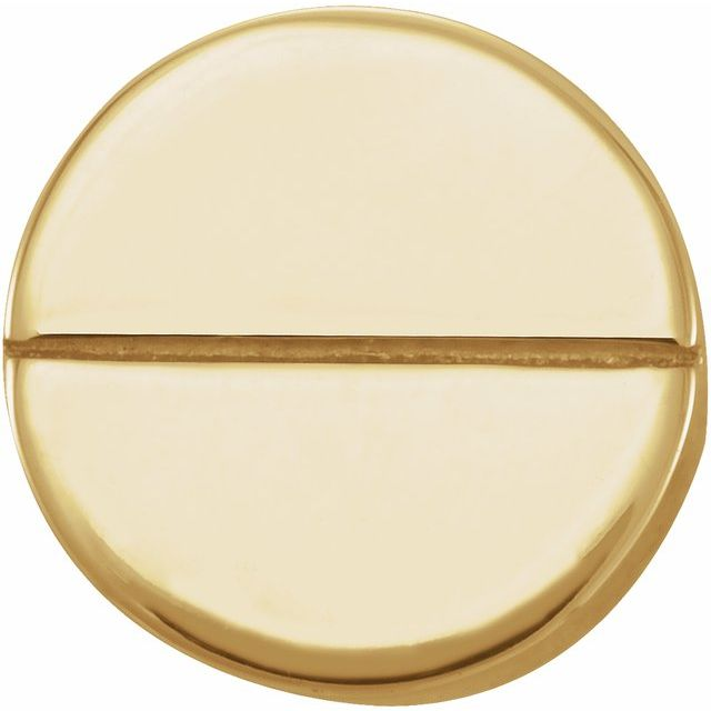 14K Yellow Geometric Single Earring