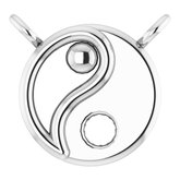 Yin Yang Necklace or Center