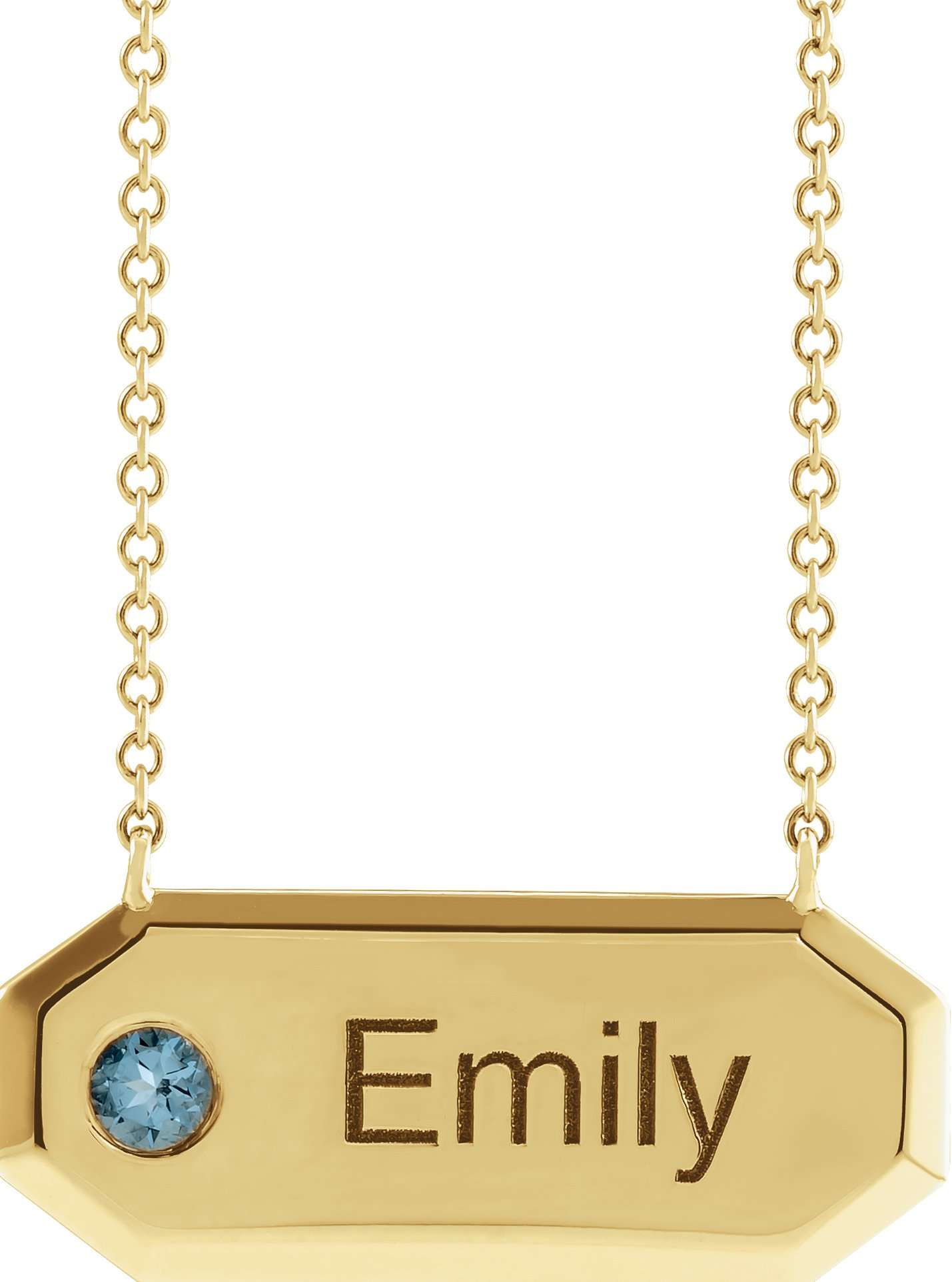 Engravable Bar Necklace or Center