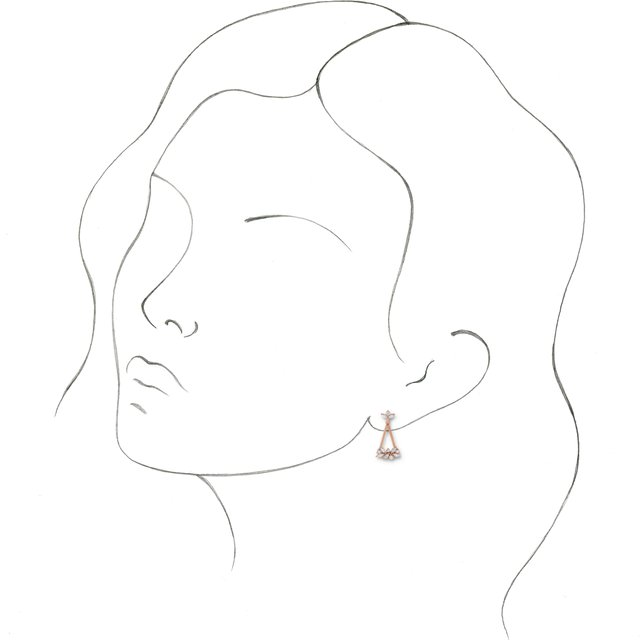 Diamond 5/8 CTW Diamond Geometric Cluster Earrings