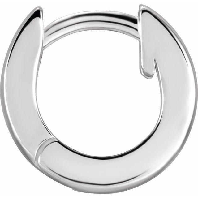 Sterling Silver 9.5 mm Huggie Earring