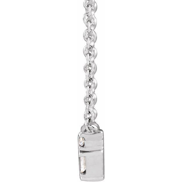 14K White 1/3 CTW Diamond Bar 18