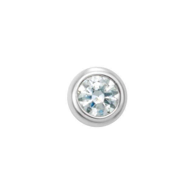 14K White .03 CT Diamond Micro Stud Single Earring