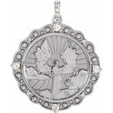 Accented Guardian Angel Necklace or Pendant