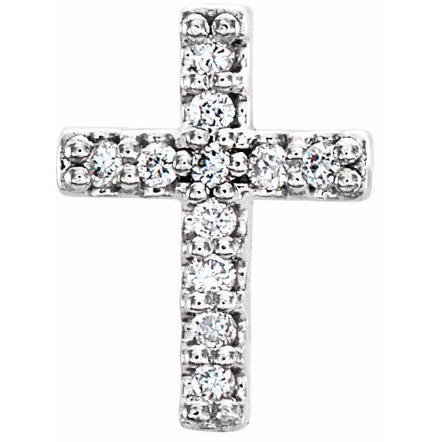 Sterling Silver .05 CTW Diamond Cross Earrings