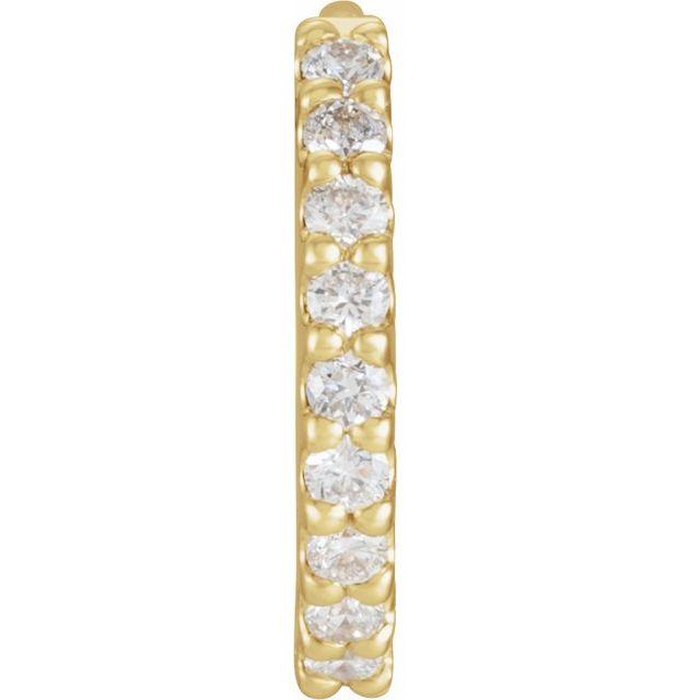 14K Yellow 1/5 CTW Diamond 18 mm Huggie Earring