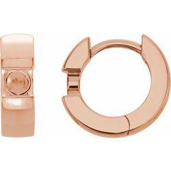 Hinged Hoop Solitaire Diamond Earring alebo neosadený