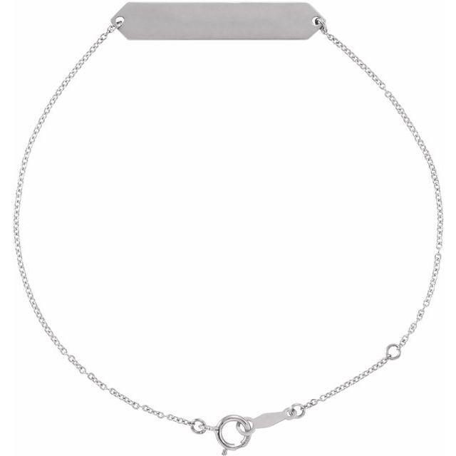 Sterling Silver Geometric 7-8