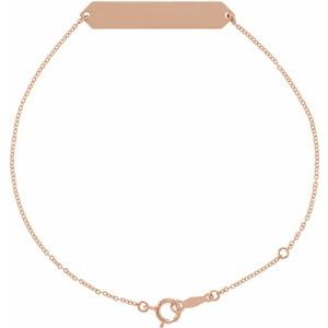 "18K Rose Gold-Plated Sterling Silver Geometric 7-8"" Bracelet"