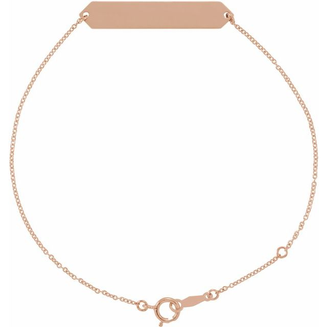 18K Rose Gold-Plated Sterling Silver Geometric 7-8