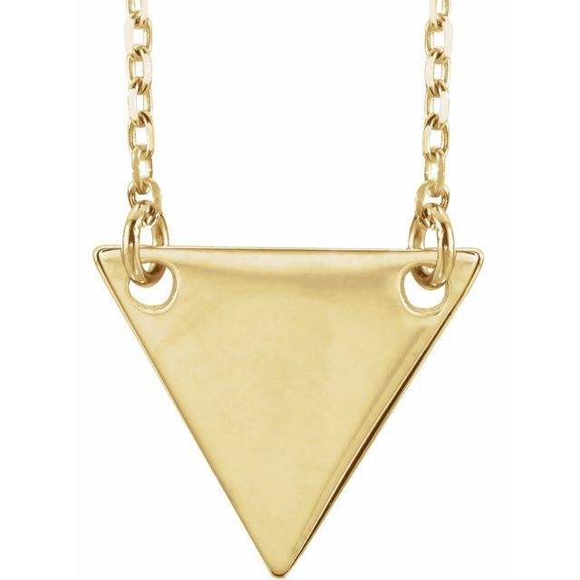 18K Yellow Gold Plated Geometric 18