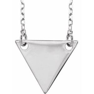 """Sterling Silver Geometric 18"""" Necklace"""