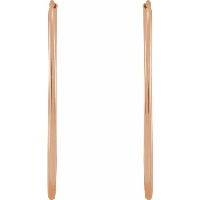 14K Rose 30 mm Flexible Endless Huggie Earrings