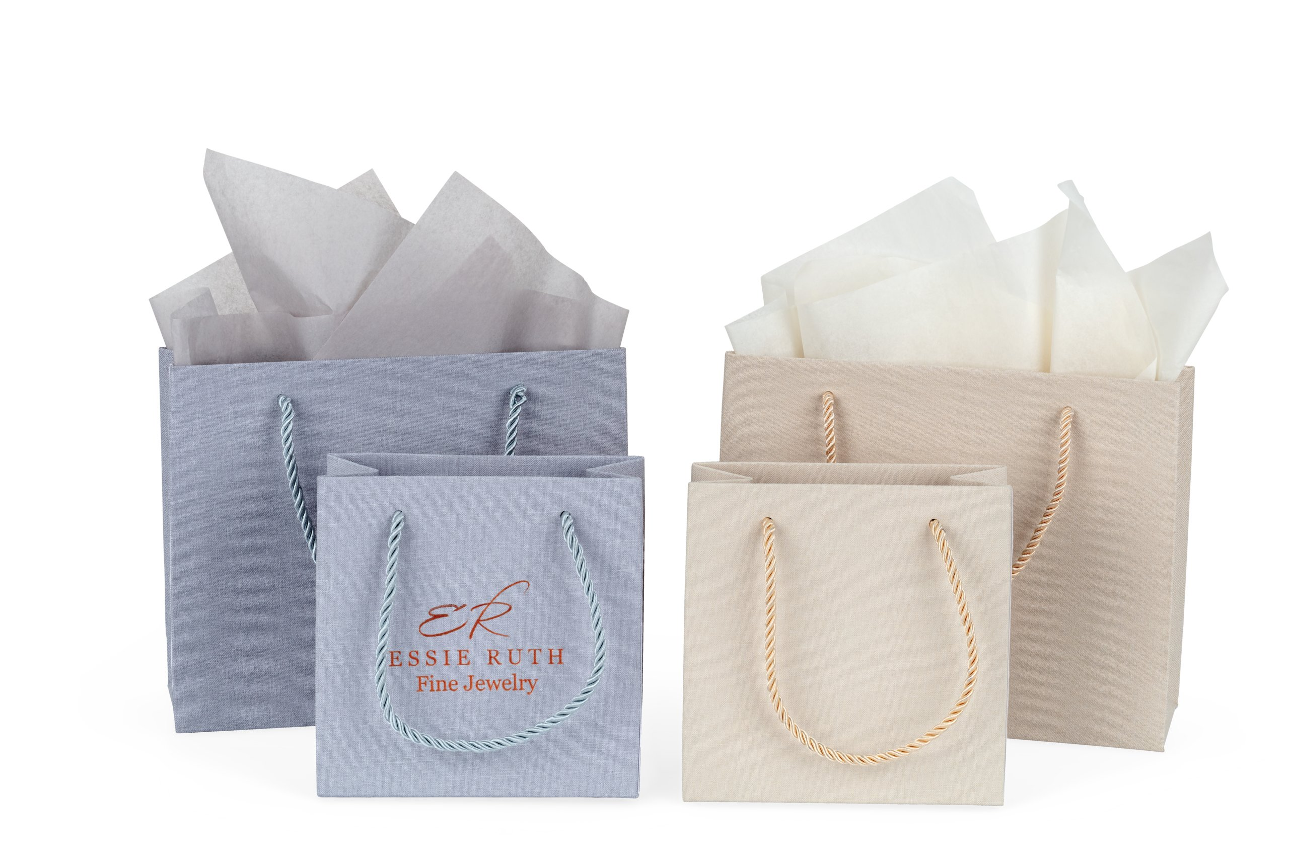 Rope Handle Linen Paper Totes