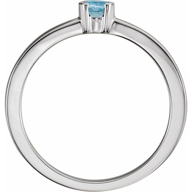 Sterling Silver Aquamarine Family Stackable Ring