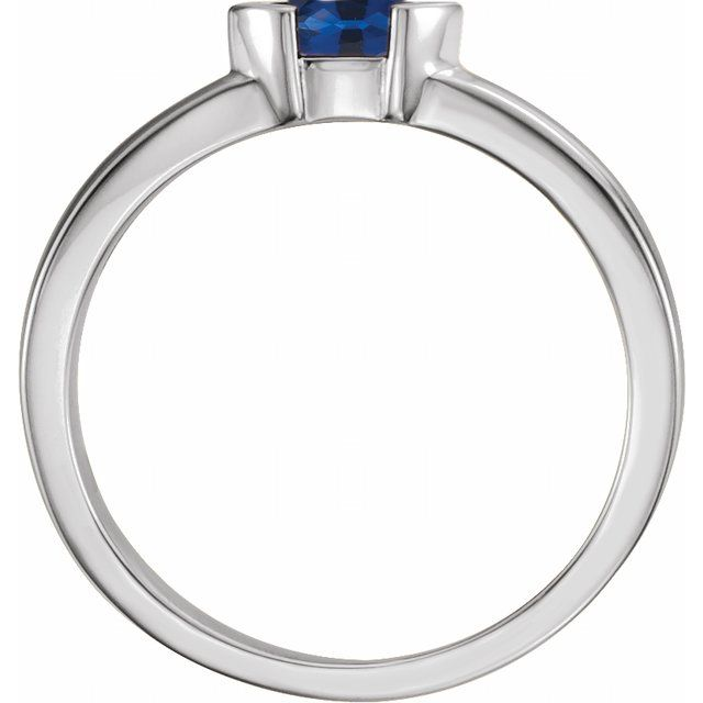 Sterling Silver Blue Sapphire Marquise Stackable Family Ring