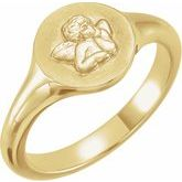 Cherub Angel Pinky Ring
