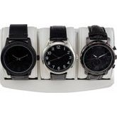 Leatherette 3-Piece Watch Tray