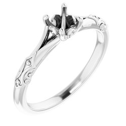 Solitaire Split Shank Engagement Ring