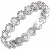 Rose-Cut Eternity Band