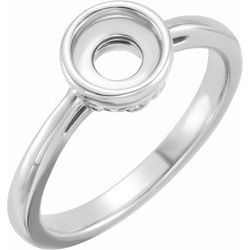 124122 / Engagement Ring / Unset / Sterling Silver / Round / 5.7 Mm / Polished / Engagement Ring Mounting