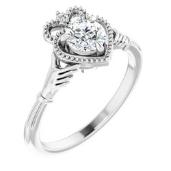 Claddagh Claw-Prong Engagement Ring or Band