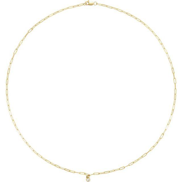 14K Yellow 1/10 CT Natural Diamond Micro Bezel-Set 16