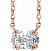 Double Claw-Prong Solitaire Necklace or Center
