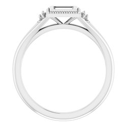 Bezel-Set Accented Engagement Ring