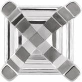 Asscher 4-Prong Earring Settings