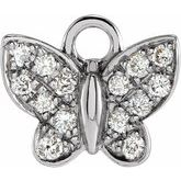Petite Pave Butterfly Dangle